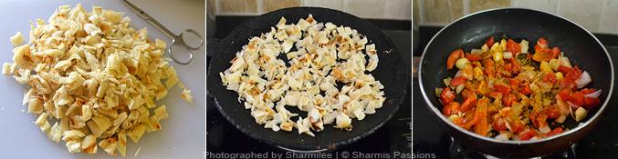 How to make chilli parotta - Step1