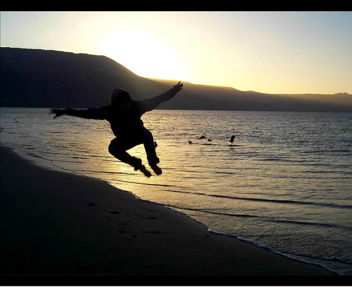 chile sunset backlight contrast contraluz de jump foto air shoreline ii seashore ocaso bounce mejillones antofagasta región in