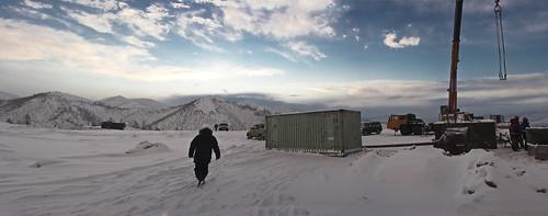 winter panorama construction december russia mining underconstruction fareast natalka magadan galushchak natalkagolddeposit polyusgold