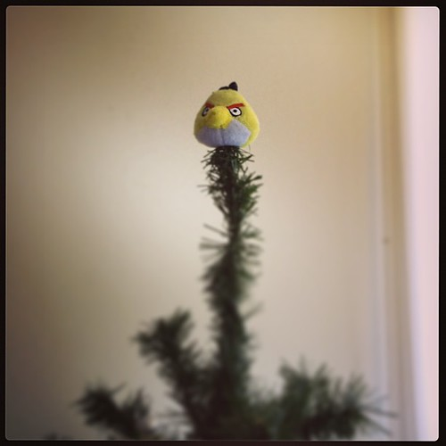 Angry Birds mini 'tree topper' aka pencil topper.  These holidays Dave is obsessed with Star Wars Angry Birds!