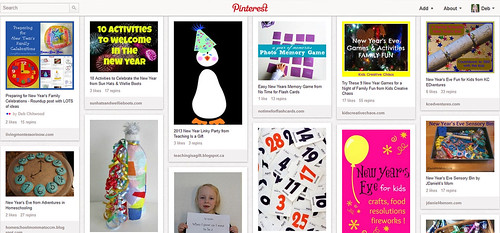 Pinterest - Kids' New Year's Activities
