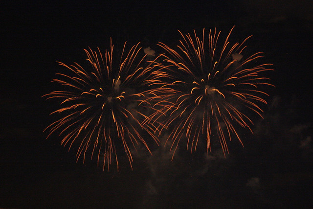 Fireworks in Montreal, summer 2012