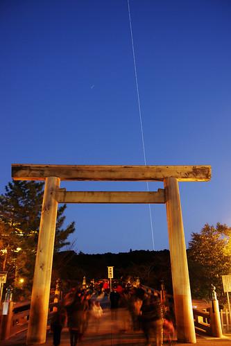 ISS over Ise Grand Shrine - 無料写真検索fotoq