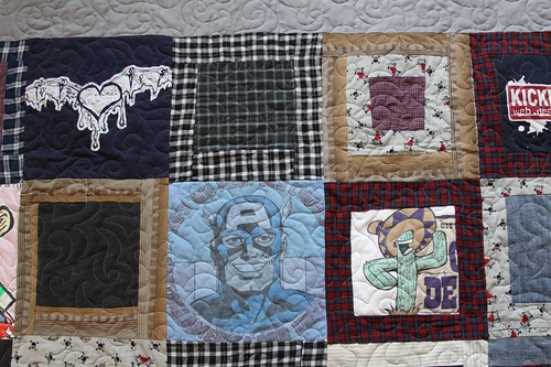 Memory Quilt from Clothing by Alix Joyal