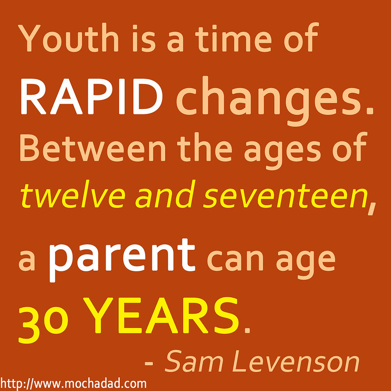 parenting quote mochadad youth is a time of rapid change