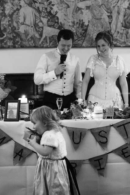 Moody Marriage - Cheeky flower girl and her pressent