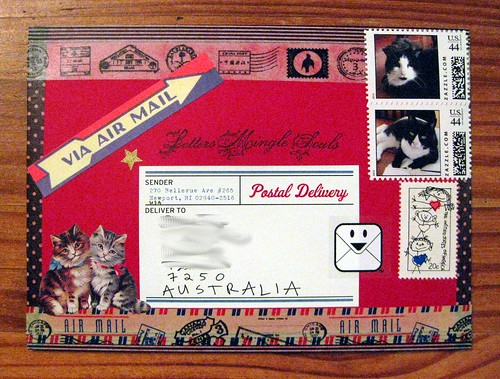 Last mail art of 2012, alternate view