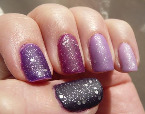 purple ombre matte glitter 2