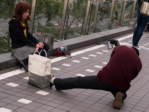 Jojo-dachi cameraman at Comiket 83.