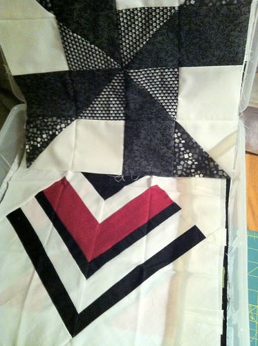 Black, white, color quilt