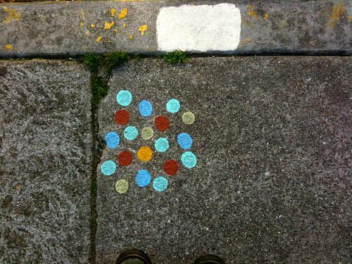 chalk dots