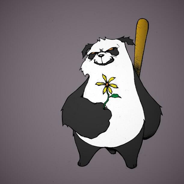 Cartoon Panda Drawing Angry Panda Drawing An...