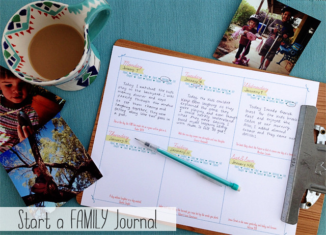 start a famliy journal
