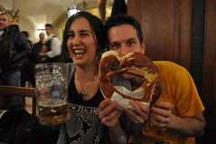 Beer and giant pretzels!