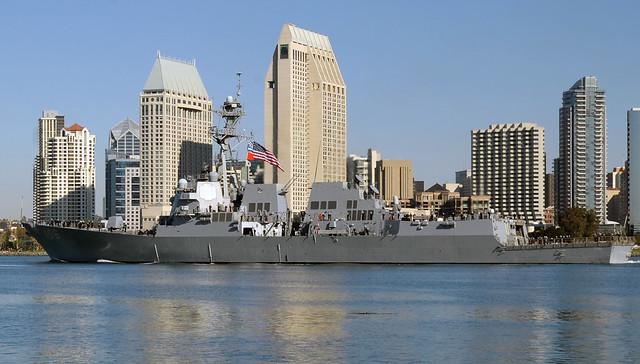 USS Stockdale (DDG 106) Departs San Diego