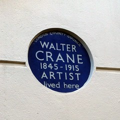 Photo of Walter Crane blue plaque