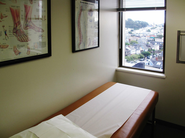 Podiatrist's office at California Pacific Medical Center in The Richmond, San Francisco (2012)