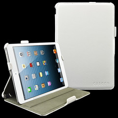 caseen White SOFT SNAP Multi Angle Stand Hand Strap & Auto Sleep/Wake Case Cover for Apple iPad Mini