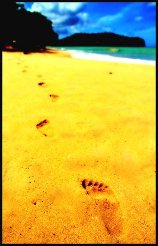sun beach sand caribbean stlucia footprint castries