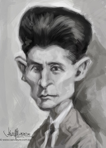 digital sketch study of Franz Kafka - 1