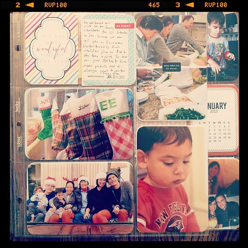 #projectlife 2013 week 1 insert front