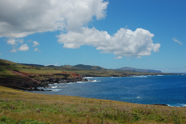 View of the Rapa Nui South Coast from Vinapu