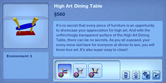High Art Dining Table