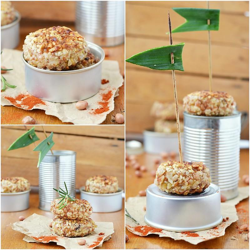коллаж картофельные котлеты в арахисе