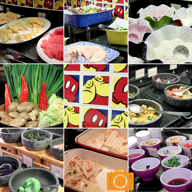 Chef Mickey buffet collage 4