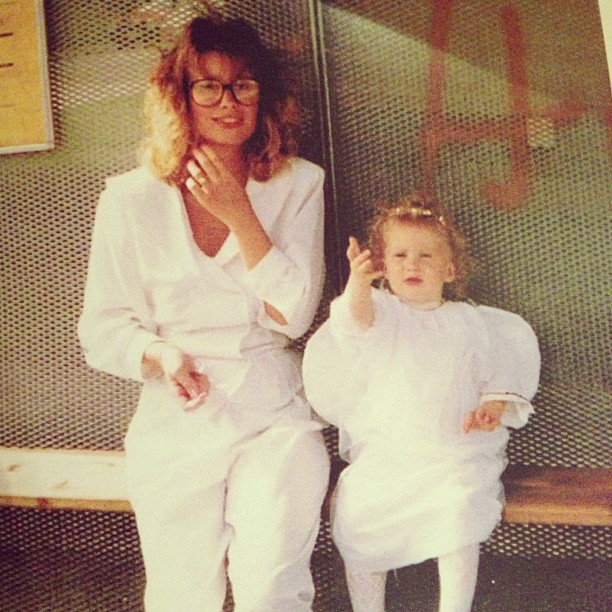 Me and my beautiful mother. August 1989