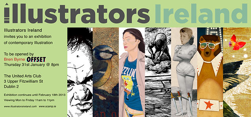 Illustrators Ireland @ The United Arts Club, Dublin 31 Jan 2013 by nerosunero