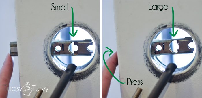 Change Your Own Door Knobs Inserting Spindle Opening