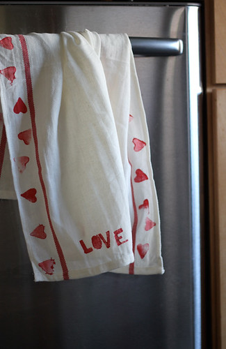 valentine s day kitchen towels family craft ideas work it mom