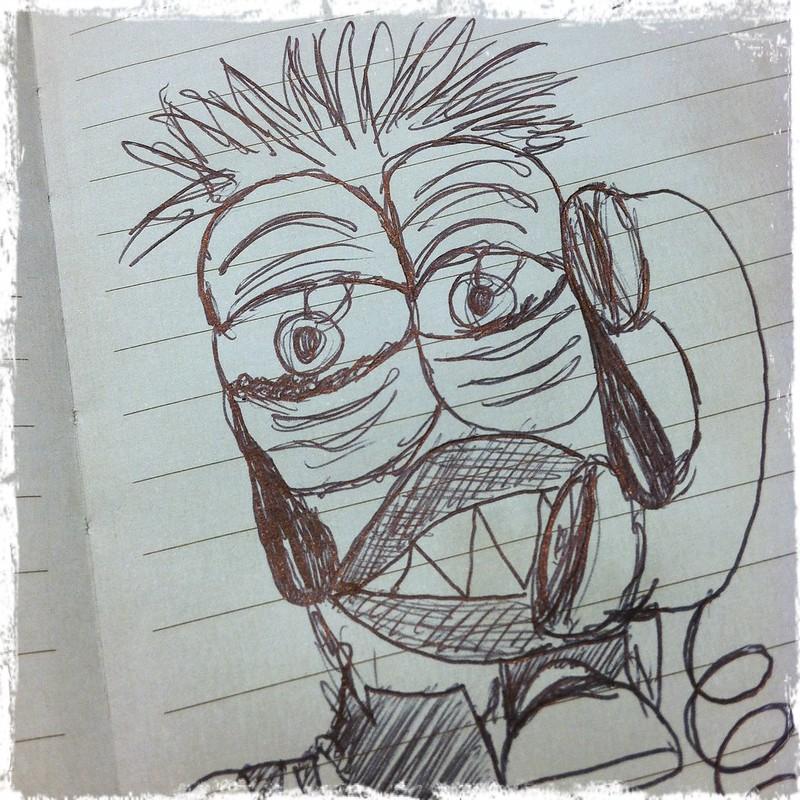 sad munchkin sketch by knot by gran'ma