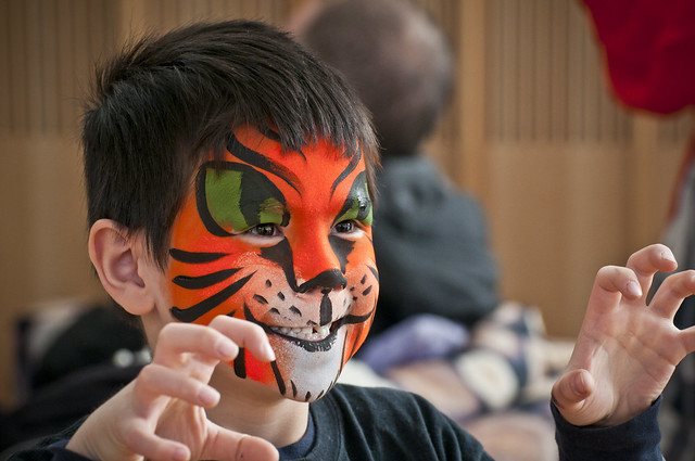 Stories and Face Paint by Christopher Agostino. Photo by Mike Ratliff.