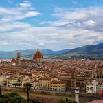 Panorama view from Firenze - Italia.