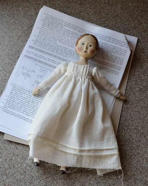 Work in Progress:  Gail Wilson Jane Austin Doll Project in Progress