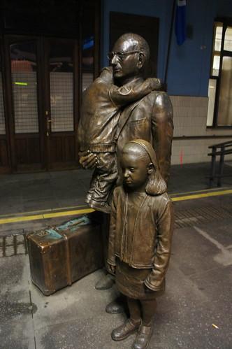 Nicholas Winton Statue Prague