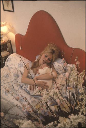 Brigitte Bardot and her son