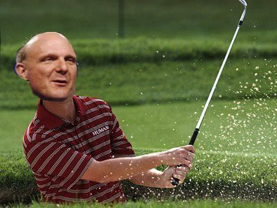 Microsoft suffers a huge quarterly loss. Ballmer retires to play golf