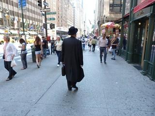 Fotografía de un judío en Nueva York
