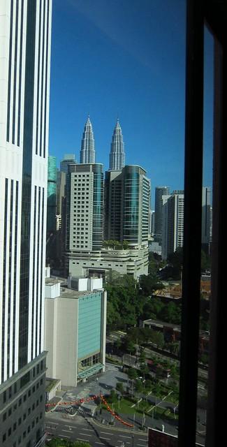 Vue de notre chambre d'hôtel - Kualal Lumpur