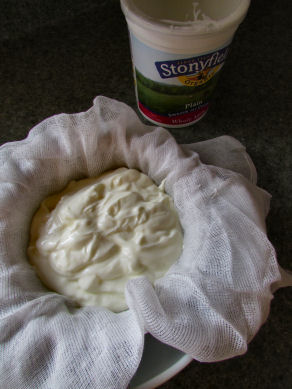 Pour Yogurt Into Cheesecloth