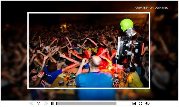 Dan Deacon & his Green Skull on MuchMusic