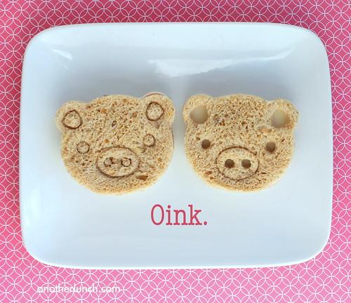 oink piggie face sandwiches