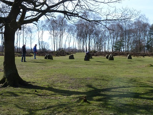 Rowsley~Holly Wood~Nine Ladies Stone Circle~Peak Tor