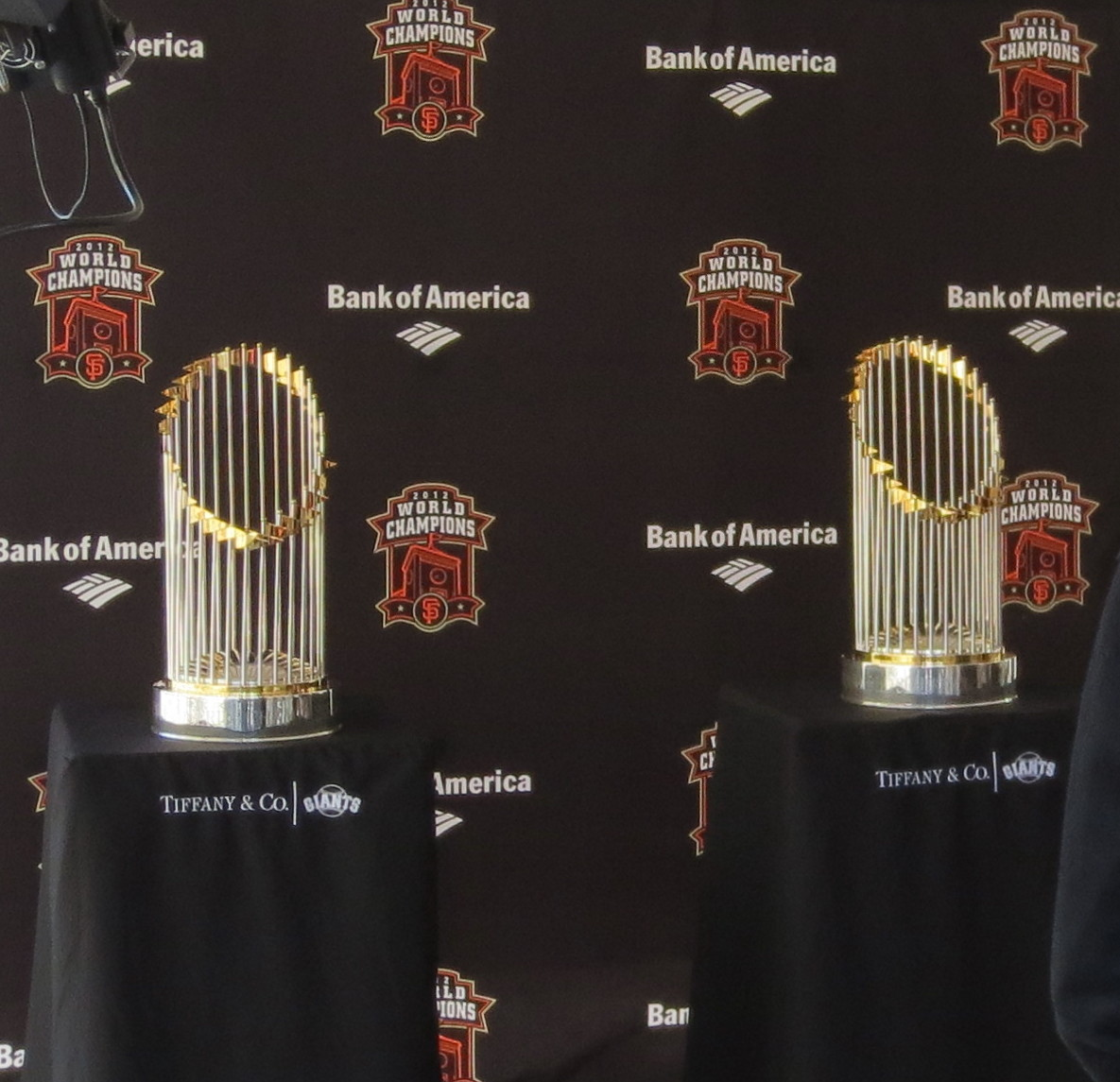 Giants World Series Trophies