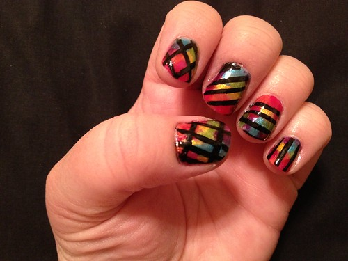 Watercolor Rainbow n Stripes