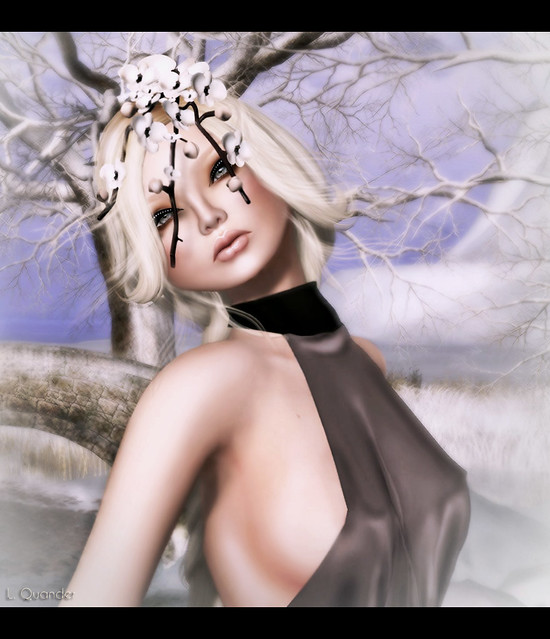 C88 - Glam Affair - Renee - Trending 02 BL & Hanami Headpiece in Cream