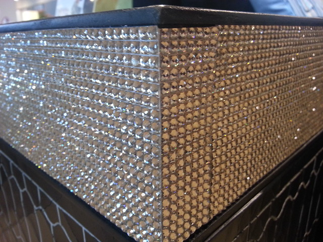 A table encrusted with rhinestones is sure to make a statement, just not one I'm bold enough to shout.